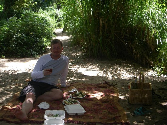 Fyndraai restaurant at Solms-Delta:                   Shady picnic