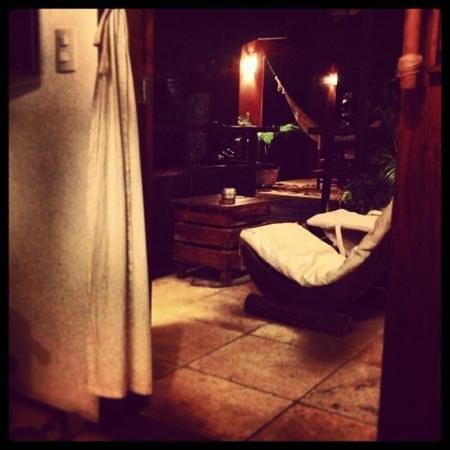 Casa na Praia:                   sacada da suite