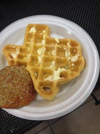 Sleep Inn & Suites I-45 North:                                     Texas Waffle!