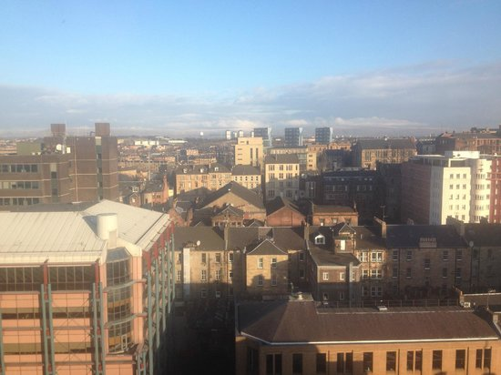 Premier Inn Glasgow City Centre (Charing Cross) Hotel:                                     View from 11th floor - look at those skies!