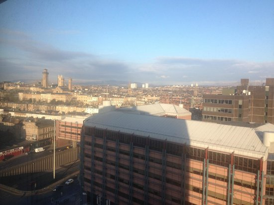 Premier Inn Glasgow City Centre (Charing Cross) Hotel:                                     View from 11th floor - can see Sauchiehall Street buildings