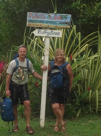 Red Frog Bungalows:                   Hiking to the Red Frog Beach
