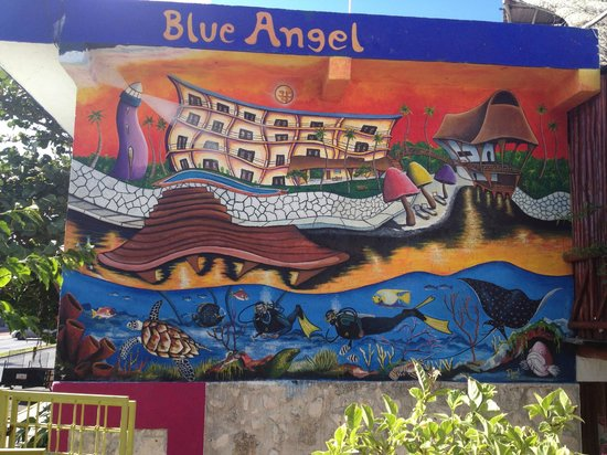 Blue Angel Resort:                   Going to the restaurant