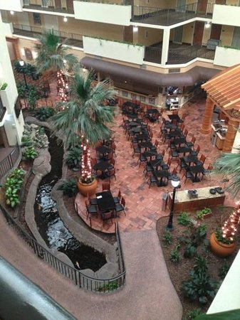 Embassy Suites by Hilton Memphis:                   Atrium from the 4th floor. Typical setup for an Embassy Suites, complete with