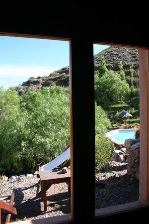 Cerro Chico: Vista desde la ventana lateral de la cabaña N°5