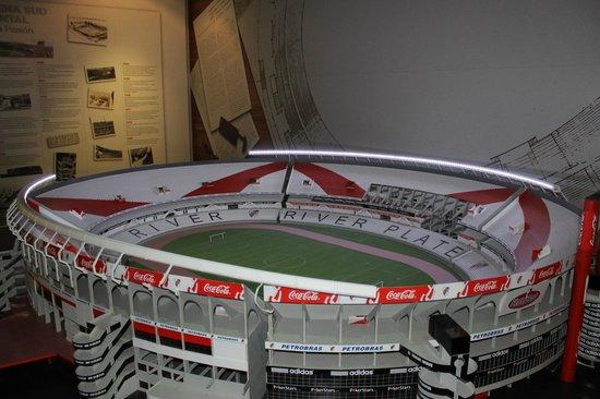 Museo River Plate: maqueta de la cancha