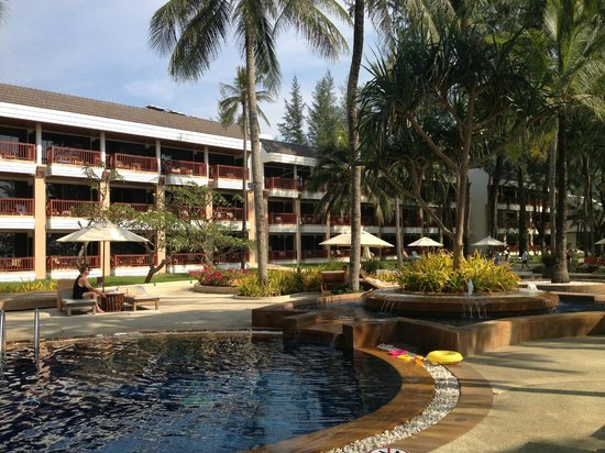 Katathani Phuket Beach Resort: Looking back to our room from pool area