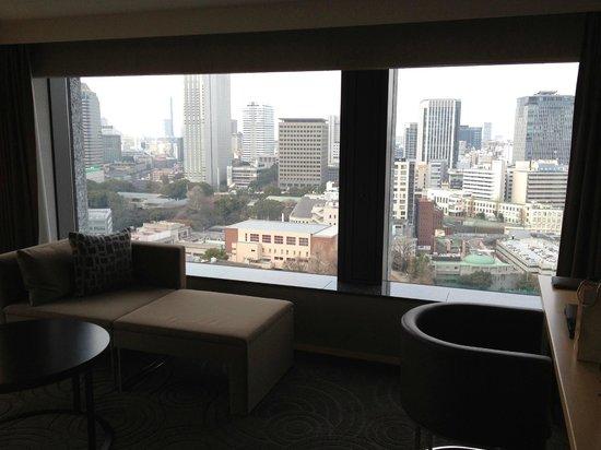The Capitol Hotel Tokyu:                   コーナーツイン赤坂側の眺め
