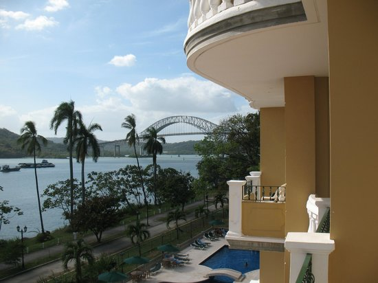Country Inn & Suites By Carlson, Panama Canal, Panama:                   Canal and Bridge of the Americas from room balcony