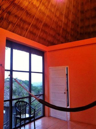 Cahal Pech Village Resort:                                     screened porch in bungalow