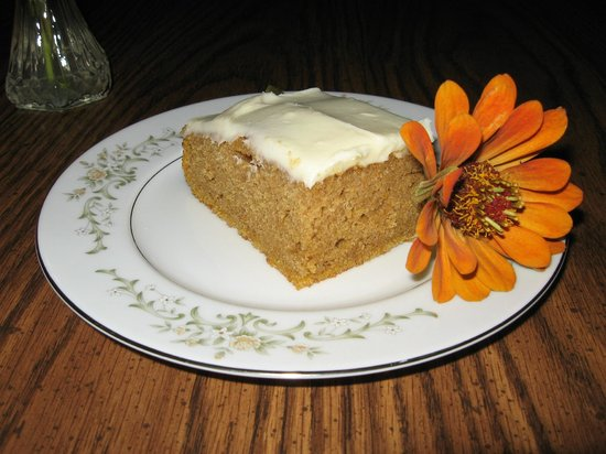 1898 Red Bud Bed & Breakfast: Pumpkin Bars with Cream Cheese Frosting