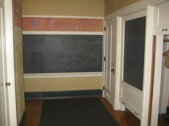 McMenamins Kennedy School:                                     Chalboard walls in room
