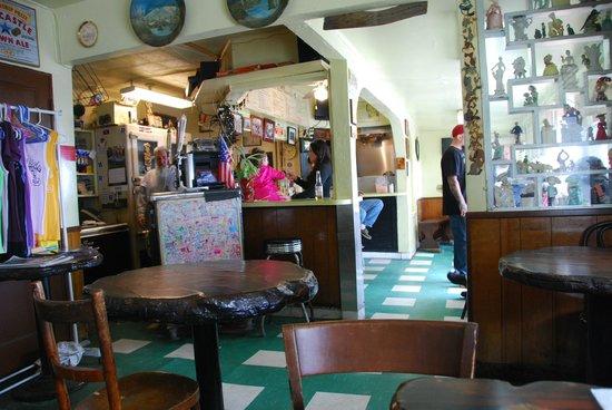 Walker's Cafe:                   interior