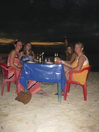 Alberto's Beach Bar Restaurant :                   Dinner at sunset
