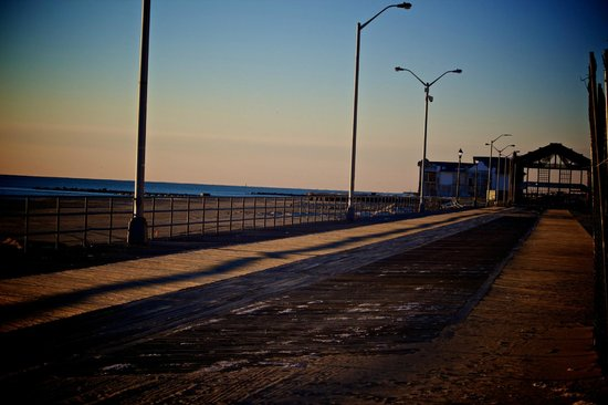 Asbury Park Boardwalk:                   Solemn, uninterrupted, awesome views