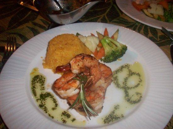 Marina Fiesta Resort & Spa :                   grilled shrimp diner at Jack's