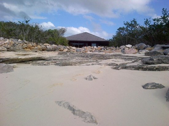 Amanyara:                   View of our Pavilion from the Water