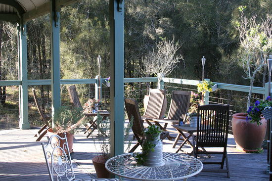 Hunter Valley Bed & Breakfast: Back Deck
