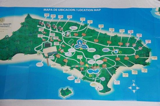 Resort map picture of luxury bahia principe cayo for Hotel luxury cayo levantado