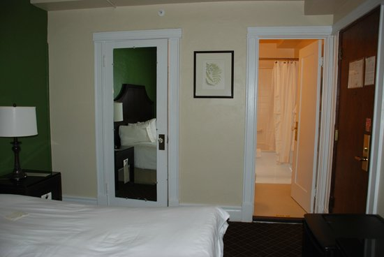 Chancellor Hotel on Union Square: view towards closet and bathroom