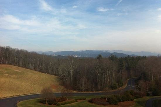 The Inn on Biltmore Estate:                   The view from our room which faced the front of the hotel