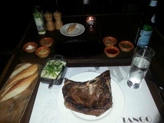 Tango Argentinian Steakhouse:                   Bone in sirlion 240Oz