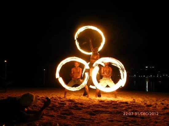 Erakor Island Resort & Spa:                   Fire Dancers