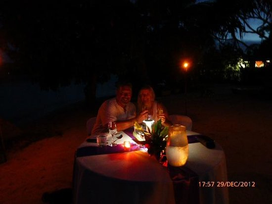 Erakor Island Resort & Spa:                   Private chefs dinner on the beach