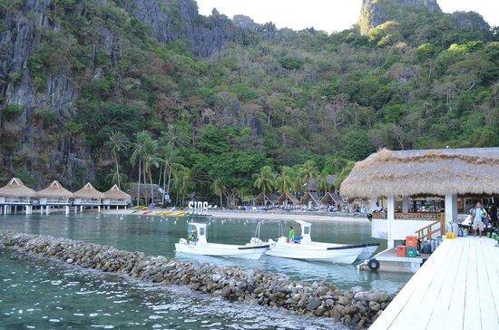El Nido Resorts Miniloc Island:                   View from the pier