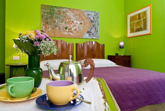 B&B Il Ghiro: camera verde con balcone