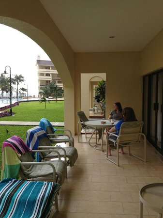 The Royal Islander All Suites Resort:                                     Ground level room-patio