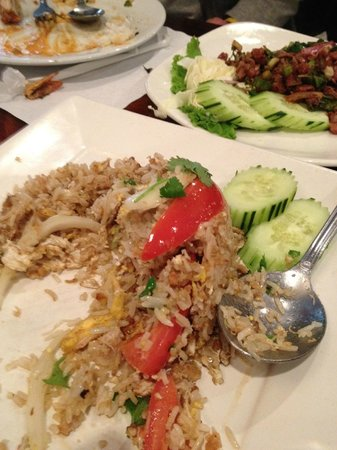 Lotus of Siam:                   Crab fried rice