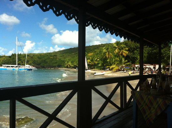 Ti Kaye Resort & Spa:                   View from the beach grill restaurant