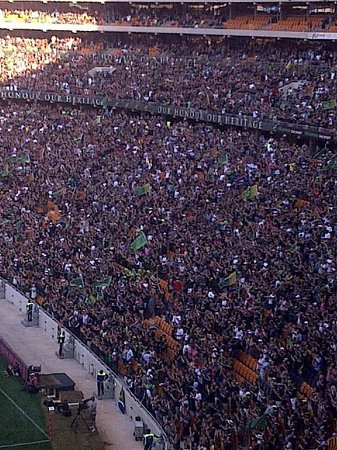 FNB Stadium:                   The crowds at the Stadium