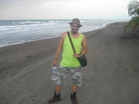 Cabinas El Icaco Tortuguero:                   La playa queda a unos metros del hotel