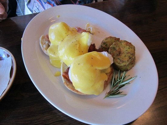 Capers Epicurean:                   Eggs benedict on english muffin with hash browns