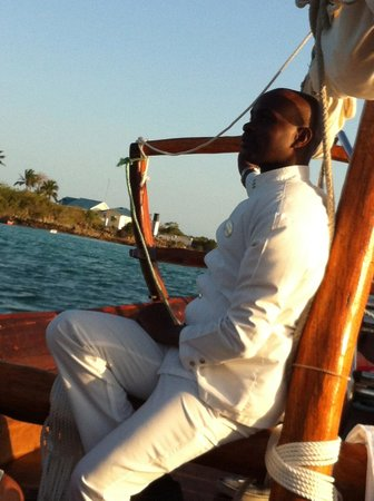 The Residence Zanzibar: our server on boat