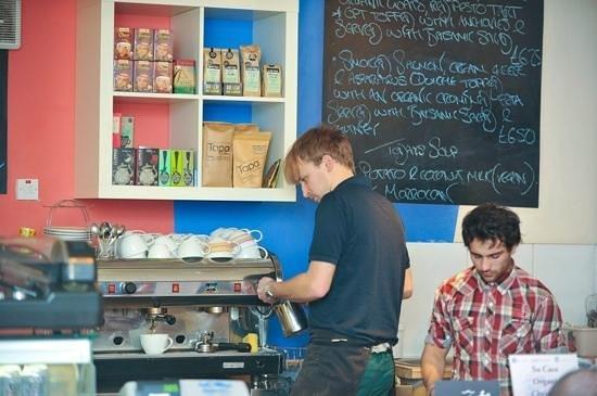 Su Casa Coffee House:                   The team hard at work.