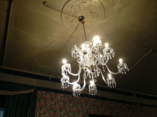 Princes Gate Hotel:                   Main lobby area - blown bulbs a common theme