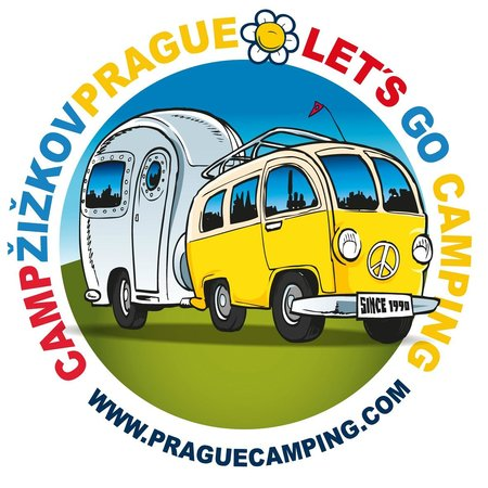 Camp Zizkov Prague:                   campsite logo