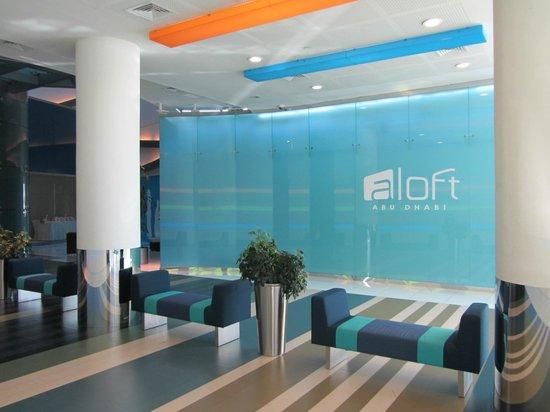 Aloft Abu Dhabi:                   Aloft Lobby