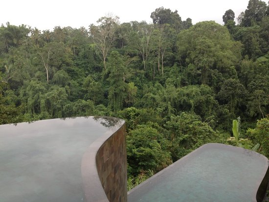 Hanging Gardens of Bali:                   Two-layered infinity swimming pool