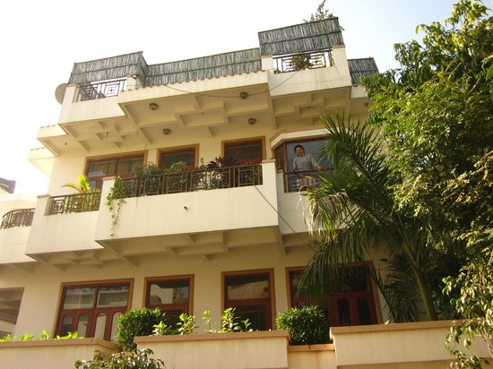 Naindevi Homestay:                   Front, seema on balcony