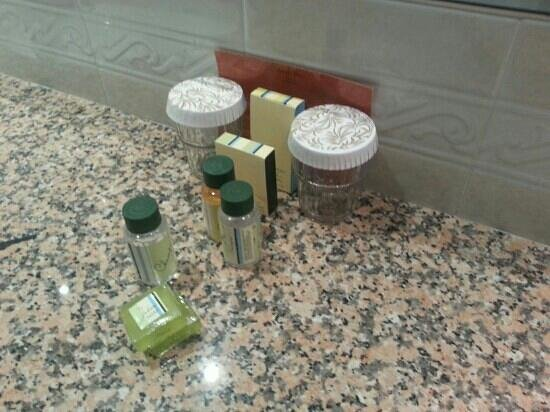 Hotel El Avenida Palace:                   soap and shampoo