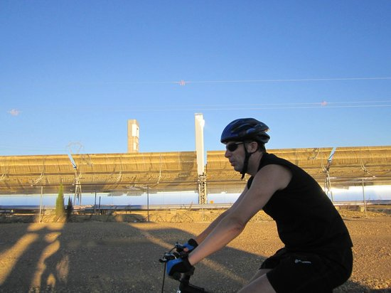 Solar Power Plants:                   Some lovely biking in the vicinity
