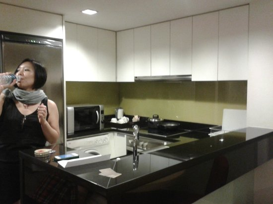 Urbana Langsuan:                   kitchen next to hall