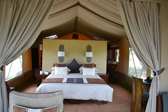 Naboisho Camp, Asilia Africa:                   Our amazing room