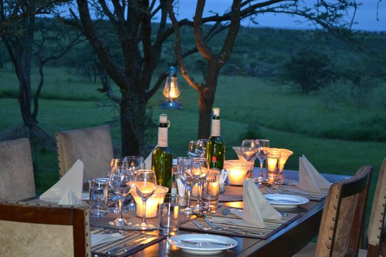 Naboisho Camp, Asilia Africa :                   Candle lit dinners