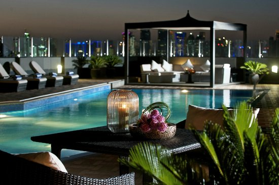 Fraser Suites Doha: Rooftop Swimming-pool مسبح اعلا الفندق