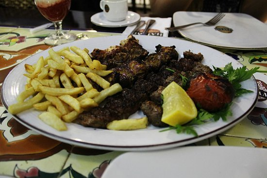 HATAM:                   mix kebab plate. its more than enough for two
